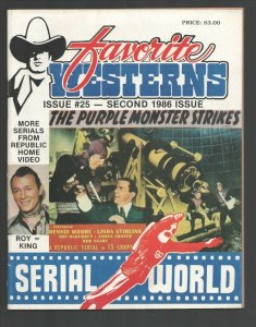 Favorite Westerns #25 1986-Incredible Serial World-Purple Moster Strikes cove...