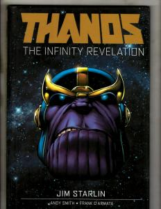 2 THANOS Graphic Novel Infinity Finale & Revelation Marvel Comics HARDCOVER J370