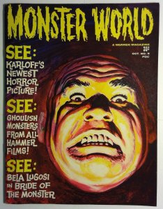 Monster World #5 Magazine Tor Johnson Warren Publishing 1965 Horror