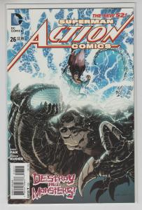 ACTION COMICS (2011 DC) #26 NM- FIRST PRINT