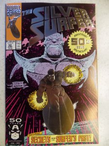 SILVER SURFER # 50 MARVEL FOIL EMBOSSED COVER THANOS
