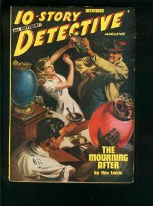 10-STORY DETECTIVE-DEC 1947-NORMAN SAUNDERS GOOD GIRL ART-DRUG STORE COVER- VF++