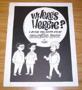 Where's Herbie? #1 FN sickle cell anemia story & coloring book - morrie turner