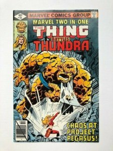 MARVEL Two in one THE THING BATTLES THUNDRA #56 direct edition VG/F (A286)