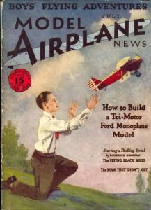 Model Airplane News #1 July 1929- RARE 1st issue- aviation magazine
