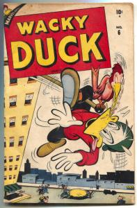 Wacky Duck #6 1947- FINAL ISSUE- Golden Age Marvel FN-