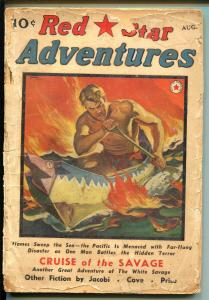 Red Star Adventures-8/1940-2nd issue-White savage-Hugh B Cave-PR/FR
