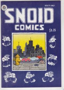 R. Crumb's Snoid Comics #1 (Jan-80) NM Super-High-Grade Mr. Snoid, Bearzy Wea...