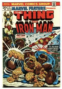 MARVEL FEATURE #12-Thing and Iron Man-comic book VF