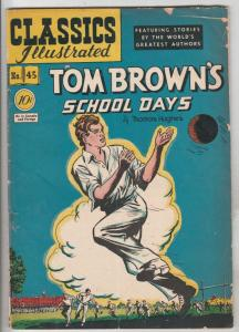 Classic Comics #45 (Jan-48) VG Affordable-Grade Tom Brown