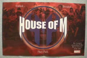 HOUSE OF M Promo Poster, X-MEN, WOLVERINE, AVENGERS, Unused, more in our store