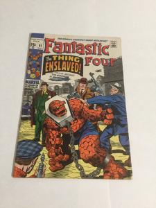 Fantastic Four 91 Vg/Fn Very Good/Fine 5.0 Marvel Comics Silver Age