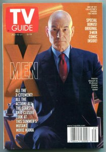 X-MEN TV guide, Patrick Stewart, Mutant, July 15-21 2000, X-men more in store