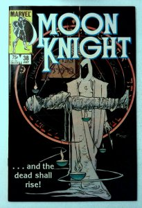 Moon Knight #38 Marvel 1984 VF Copper Age Key Scarce Final Issue Comic Book