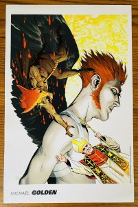 MICHAEL GOLDEN WITH POPE 11x17 ART PRINT 2008 NAKED FAT RAVE SDCC Portfolio