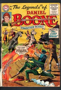 THE LEGENDS OF DANIEL BOONE #5-1956-DC-FRONTIER WILD BOY-SCARCE ISSUE-FAIR FR