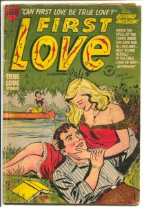 First Love #24 1953-Harvey-Bob Powell art-swimsuit-lingerie-shower panels-VG-