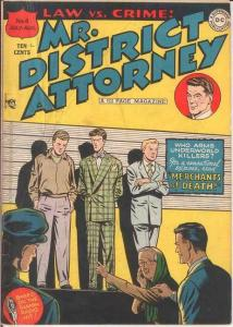 MISTER DISTRICT ATTORNEY (1948-1959) 4 G-VG KIRBY COMICS BOOK