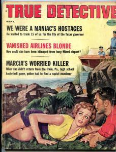 True Detective Magazine September 1959- Vanished Airlines Blonde- Crime