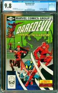 Daredevil #174 CGC Graded 9.8 1st appearance of the Hand. Elektra, Kingpin & ...