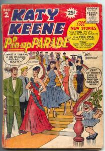 Katy Keene Pin-up Parade #2 1956- INCOMPLETE BARGAIN COPY