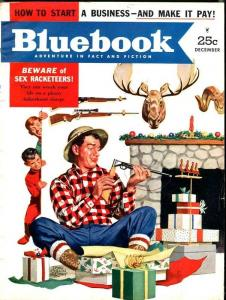 BLUE BOOK PULP-DECEMBER 1952-FN-MURPHY COVER-LUMBARD-PEACOCK-CHABER FN