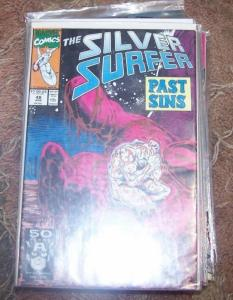 Silver Surfer #48 (Apr 1991, Marvel) GALACTUS + DRAX+warlock THANOS INFINITY