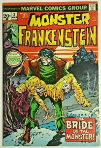 FRANKENSTEIN MONSTER#2 FN/VF 1973 MARVEL BRONZE AGE COMICS