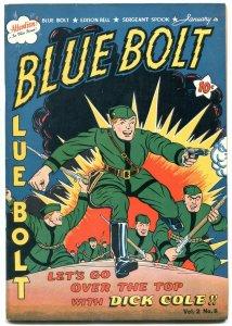 BLUE BOLT V.2 #8 1942-DICK COLE-WHITE RIDER SUB-ZERO VF-