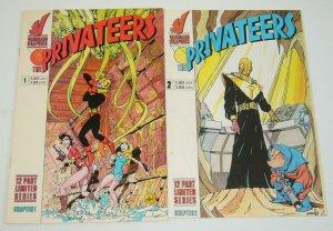the Privateers #1-2 VF complete series - tom grummett - vanguard graphics set
