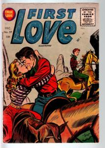 First Love Illustrated #59 1955- Western Romance cover- Harvey comics VG