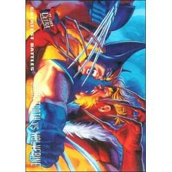 1995 Fleer Ultra X-Men SABRETOOTH VS WOLVERINE #139