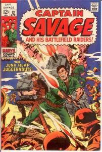 CAPTAIN SAVAGE (1968) 13 VERY FINE April 1969 COMICS BOOK