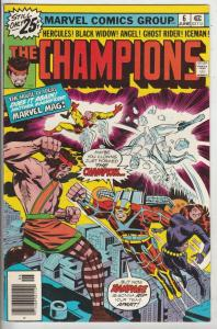 Champions, The #6 (May-76) NM- High-Grade Ghost Rider, Hercules, Black Widow,...