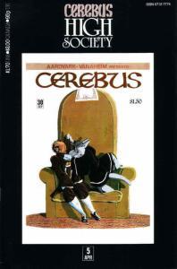 Cerebus High Society #5 FN; Aardvark-Vanaheim | save on shipping - details insid