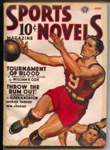 Sports Novels 4/1940-basketball cover-Baseball Parade 1940-Connie Mack-VG
