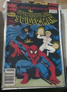 SPECTACULAR  SPIDER-MAN ANNUAL # 9  1989 MARVEL  ATLANTIS ATTACKS CLOAD DAGGER
