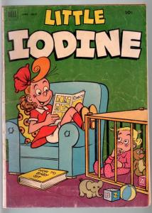 LITTLE IODINE #12-DELL-1952-JIMMY HATLO-IODINE READS A COMIC BOOK ON THIS C G