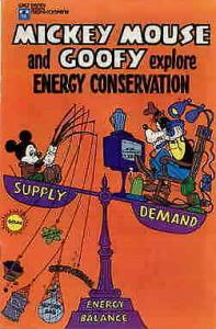 Mickey Mouse and Goofy Explore Energy Conservation #1 FN; Disney   save on shipp