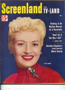 ScreenLand-Betty Grable-Marilyn Monroe-Hedy Lamar-Mitzi Gaynor-May-1954