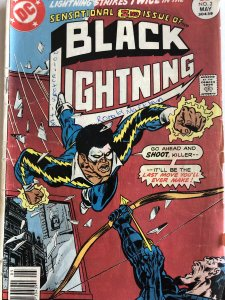 Black Lightning#2,VG, Buckler covet.. see Batman inside front cover!