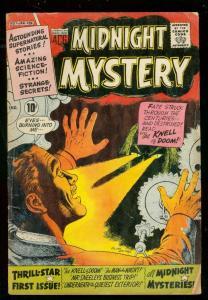 MIDNIGHT MYSTERY #1 '61-KNELL OF DOOM-WILD HORROR COVER G/VG