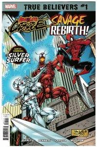 True Believers Absolute Carnage Savage Rebirth #1 (Marvel, 2019) NM
