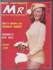 Mr. 5/1950-cheesecake-pin-up pix-1st issue-Jane Lamb-KKK-Ted Williams-FN