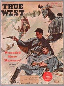 True West 4/1961-Pat Garrett-Wounded Knee-Jesse James-pulp thrills-VG