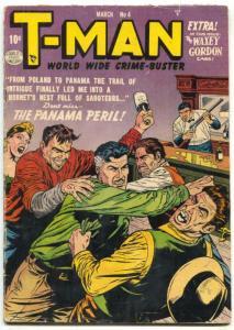 T-Man #4 1952- Golden Age comics- Barroom brawl cover