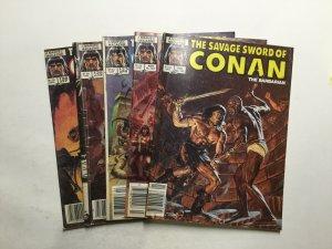 Savage Sword Of Conan 120 122 123 125 128 Very Good Vg 4.0 Marvel