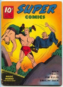 Super Comics #27 1940- Magic Morro cover- Dick Tracy- Jim Ellis VG+