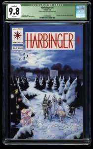 Harbinger #4 CGC NM/M 9.8 White Pages (Qualified)