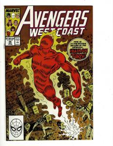 Lot of 13 Avengers West Coast Comics #50 51 52 53 56 57 58 60 61 62 63 66 67 JF4